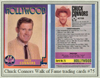 Chuck Connors Star On The Hollywood Walk Of Fame