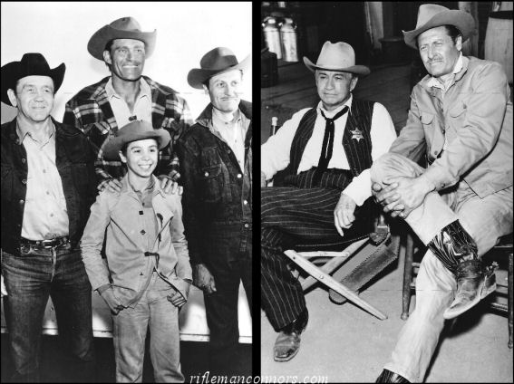 Joe on the set of The Rifleman with the cast.